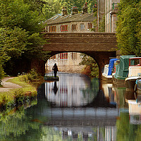Buy canvas prints of The Rochdale Canal , Yorkshire by Irene Burdell
