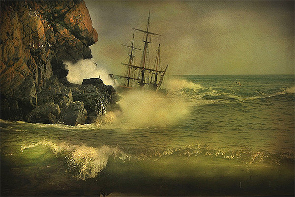 Ship Wrecked !! Canvas Print by Irene Burdell