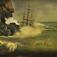Buy canvas prints of Ship Wrecked !! by Irene Burdell