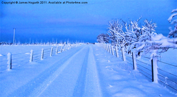 Snow A Road To Nowhere Canvas print by James Hogarth