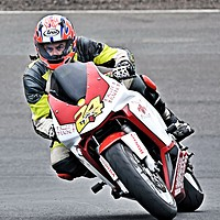 Buy canvas prints of Motorbike Racing at Knockhill by James Hogarth