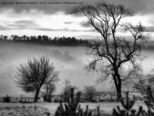 Ayrshire Morning Mist Canvas print by James Hogarth