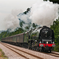 Buy canvas prints of 46233 Duchess of Sutherland by Steve Liptrot