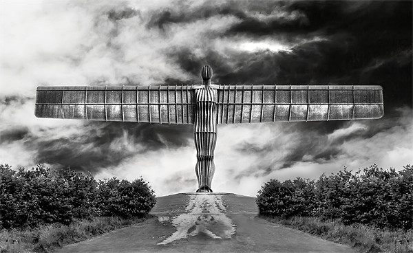 Angel in Black & White Canvas print by Kevin Tate