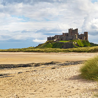 Buy canvas prints of Bamburgh Castle by Kevin Tate