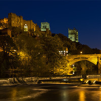 Buy canvas prints of Durham at night by Kevin Tate