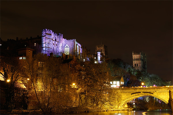 Durham Lumiere Canvas print by Kevin Tate