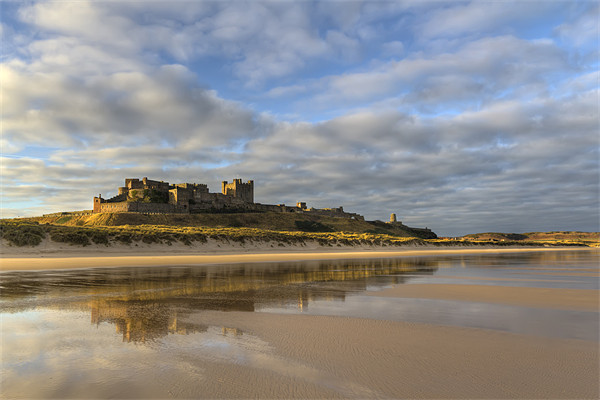 Bamburgh Castle Reflection Canvas print by Kevin Tate