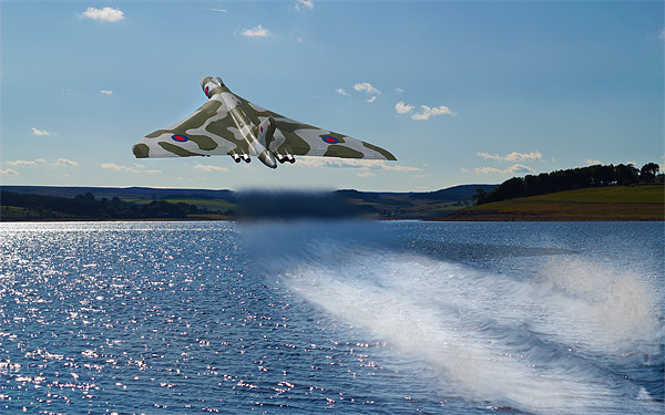 Vulcan Bomber over Derwent Reservoir Canvas print by Kevin Tate