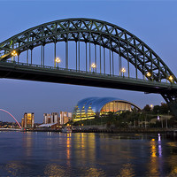 Buy canvas prints of Newcastle Tyne Bridge by Kevin Tate
