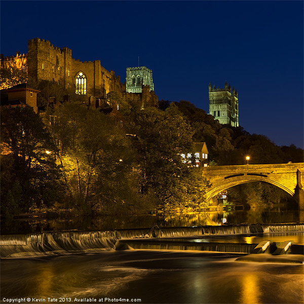 Durham at night Canvas print by Kevin Tate