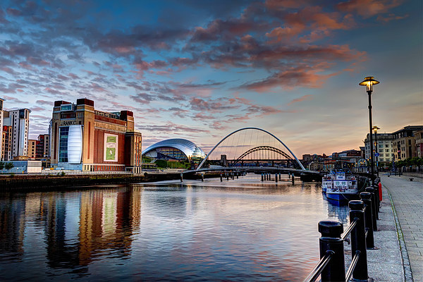 Newcastle Quayside Canvas print by Kevin Tate