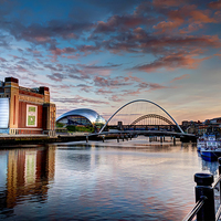 Buy canvas prints of Newcastle Quayside by Kevin Tate