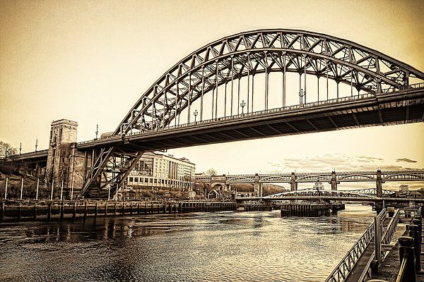 Newcastle Tyne Bridge Canvas Print by Kevin Tate