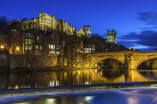 Durham Castle at night Print by Kevin Tate