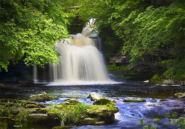 West Burton Waterfall Canvas print by Kevin Tate