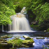 Buy canvas prints of West Burton Waterfall by Kevin Tate