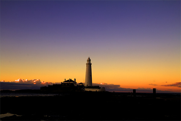 st. mary`s lighthouse. Canvas print by Northeast Images Daniel Dent