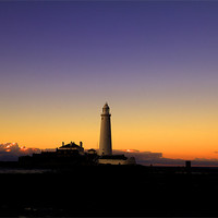 Buy canvas prints of st. mary`s lighthouse. by Northeast Images Daniel Dent