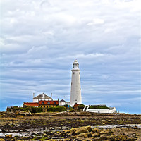 Buy canvas prints of st mary`s lighthouse by Northeast Images Daniel Dent