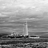Buy canvas prints of st mary`s lighthouse. by Northeast Images Daniel Dent