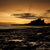 Buy canvas prints of Bamburgh Sunrise by Northeast Images Daniel Dent