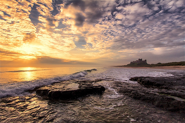 Bamburgh Castle Canvas print by Northeast Images Daniel Dent