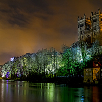 Buy canvas prints of Durham Lumiere Panoramic by Northeast Images Daniel Dent