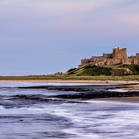 Buy canvas prints of Bamburgh Castle by Northeast Images Daniel Dent