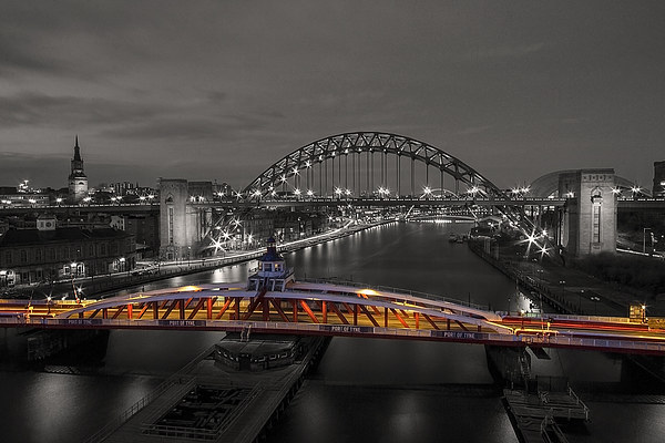 Newcastle Quayside Canvas print by Northeast Images Daniel Dent