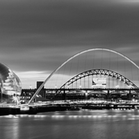 Buy canvas prints of  Newcastle Quayside Panoramic by Northeast Imag Dent