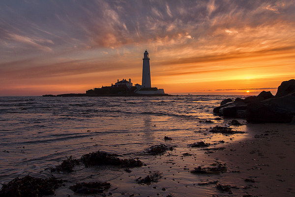 St Mary`s Lighthouse Canvas print by Northeast Images