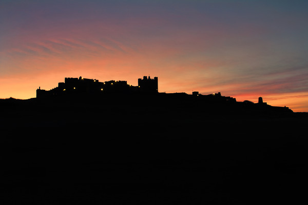 Bamburgh silhouette Canvas print by Northeast Images