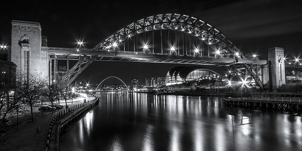 Newcastle Quayside Panorama Canvas Print by Northeast Images