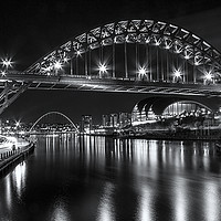 Buy canvas prints of Newcastle Quayside Panorama by Northeast Images