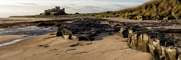 Bamburgh Panorama Canvas Print by Northeast Images