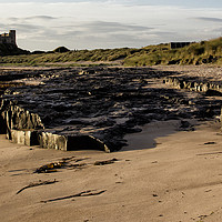 Buy canvas prints of Bamburgh Panorama by Northeast Images