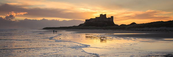 Bamburgh Castle panorama Canvas Print by Northeast Images