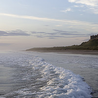 Buy canvas prints of Bamburgh Castle panorama by Northeast Images