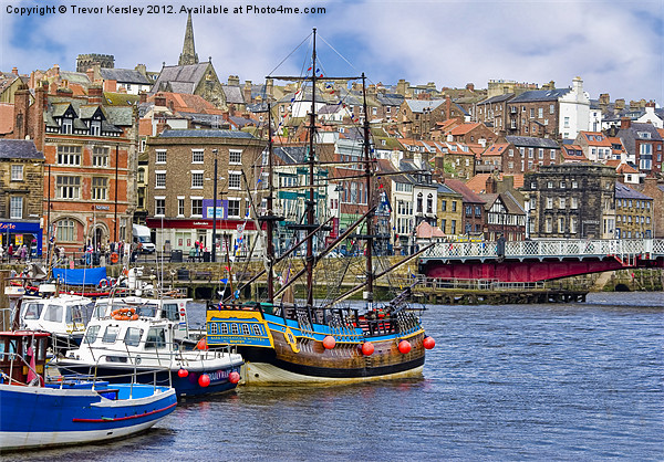 Whitby Harbour Canvas print by Trevor Kersley