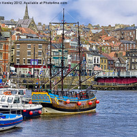 Buy canvas prints of Whitby Harbour by Trevor Kersley
