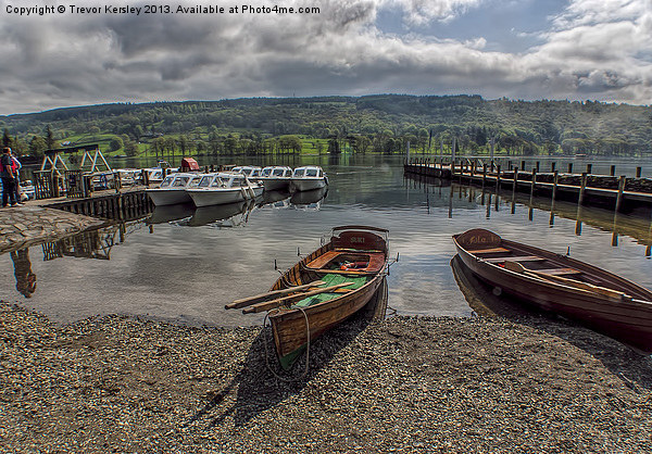 Coniston Water Lake District Canvas Print by Trevor Kersley