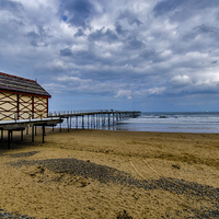 Buy canvas prints of The Beach Saltburn by Trevor Kersley