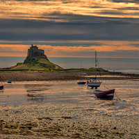 Buy canvas prints of The Castle  Holy Island by Trevor Kersley