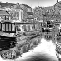 Buy canvas prints of Skipton Canal Basin by Trevor Kersley