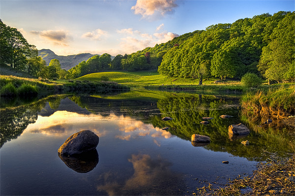 Golden Hour At Elterwater Canvas print by Jason Connolly