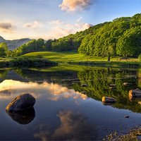 Buy canvas prints of Golden Hour At Elterwater by Jason Connolly