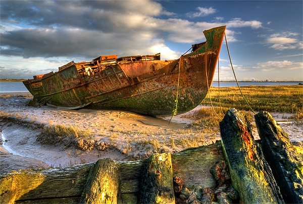 Shipwrecks on the River Wyre Canvas Print by Jason Connolly