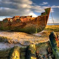Buy canvas prints of Shipwrecks on the River Wyre by Jason Connolly