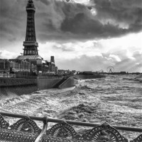 Buy canvas prints of Moody Skies At Blackpool by Jason Connolly